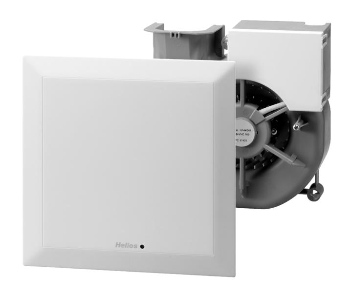 Els Vn 100 60 Ventilatoreinsatz Mit Fassade Nachlauf Und 2 Leistungsstufen V 100 60 Cbm H Helios Ventilatoren Ag